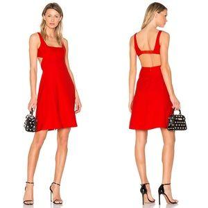 T by Alexander Wang Bralette Midi Dress In Scarlet